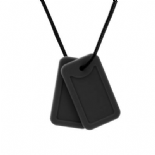 Dog-Tag style necklace - 'Commander' Matt Black - Chewigem